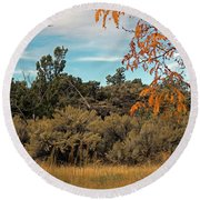 Sagebrush And Lava Round Beach Towel