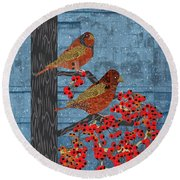 Round Beach Towel featuring the digital art Sagebrush Sparrow Long by Kim Prowse