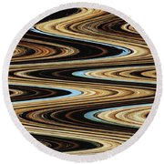 Saguaro Abstract Round Beach Towel by Tom Janca