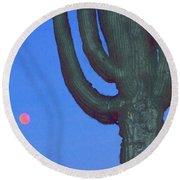 Saguaro And Eclipse IIi Round Beach Towel