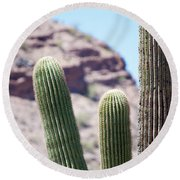 Saguaro Movie Nostalgia Round Beach Towel
