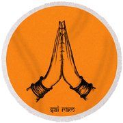 Sai Ram Round Beach Towel by Tim Gainey