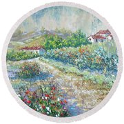 Saignon Round Beach Towel
