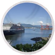 Round Beach Towel featuring the photograph Sail Away by Ross G Strachan