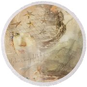 Round Beach Towel featuring the digital art Sail Away by Sue Collura