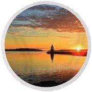Sail Into The Sunrise Round Beach Towel