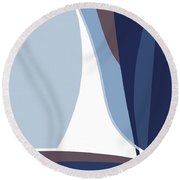 Sail Round Beach Towel
