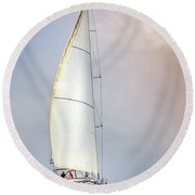 Sailboat 9 Round Beach Towel