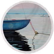 Sailboat Tied Round Beach Towel