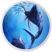 Sailfish And Ballyhoo Round Beach Towel