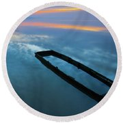 Sailing In The Sky Round Beach Towel