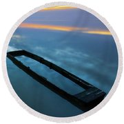 Round Beach Towel featuring the photograph Sailing In The Sky by Davor Zerjav