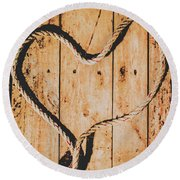 Sailing Love With No Strings Attached Round Beach Towel
