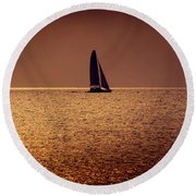 Sailing Round Beach Towel by Steven Sparks