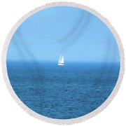 Sailing The Sea Round Beach Towel