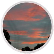 Round Beach Towel featuring the photograph Sailor's Delight by Randy Rosenberger