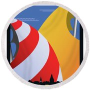 Sails Round Beach Towel