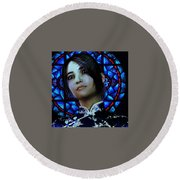 Saint Anna Wang 6 Round Beach Towel