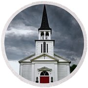 Round Beach Towel featuring the photograph Saint James Episcopal Church 002 by George Bostian