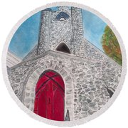 Saint James Episcopal Church Round Beach Towel