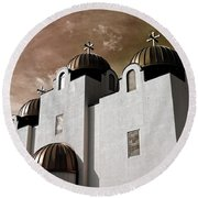 Saint Louis Coptic Orthodox  Round Beach Towel by Luther Fine Art