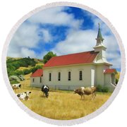 St. Mary's Visitors Round Beach Towel