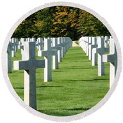 Saint Mihiel American Cemetery Round Beach Towel by Travel Pics