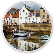Saint Monans Round Beach Towel by MaryJane Armstrong