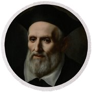 Saint Philip Neri Round Beach Towel