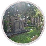 Saint Phillips Cemetery 4 Round Beach Towel