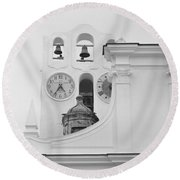 Saint Sofia Church Round Beach Towel by Silvia Bruno
