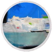 Saint-tropez Round Beach Towel