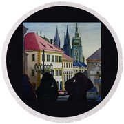 Saint Vitus Cathedral Round Beach Towel