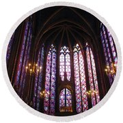 Round Beach Towel featuring the photograph Sainte-chapelle by Christopher Kirby