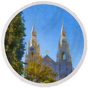 Saints Peter And Paul Church Round Beach Towel