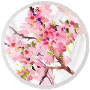 Sakura Cherry Blossom Round Beach Towel
