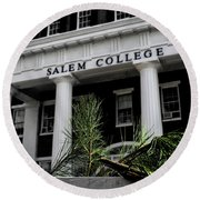 Round Beach Towel featuring the photograph Salem College by Jessica Brawley