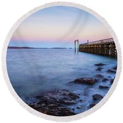 Salem Willows Sunset Round Beach Towel