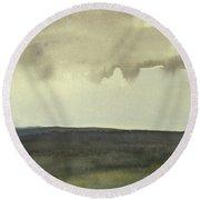 Salen Cloudy Weather. Up Tp 60 X 60 Cm Round Beach Towel