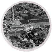 Salinas High School 726 S. Main Street, Salinas Circa 1950 Round Beach Towel