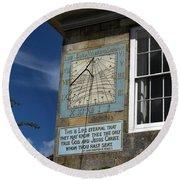 Salisbury Sundial Round Beach Towel