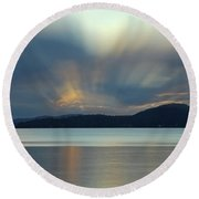 Salish Sea Sunrise - 365-350 Round Beach Towel