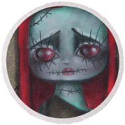 Sally Girl Round Beach Towel by Abril Andrade Griffith