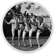 Sally Rand's Entertainers Round Beach Towel
