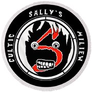 Sallys Cultic Miliew Round Beach Towel