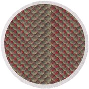 Round Beach Towel featuring the digital art Salmon by Zaira Dzhaubaeva