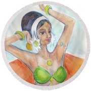 Salome Round Beach Towel by Loretta Nash