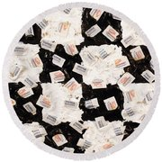 Salt And Pepper Round Beach Towel