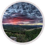 Round Beach Towel featuring the photograph Salt Creek Sunrise by Fiskr Larsen