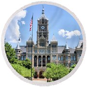 Salt Lake City County Building Round Beach Towel